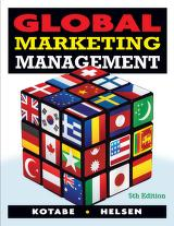 Cover of: Global marketing management
